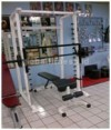 Smith machine + Bangku + Tiang Deltagym