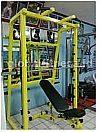 Smith Machine + Bangku + Tiang
